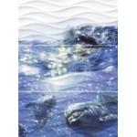 Вэйв Дельфины панно
