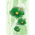 Декор керамический Маргарита Зеленый 20x30