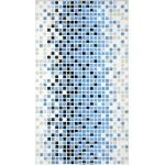 Декор керамический Стиль (STILE) синия мозайка 23x40